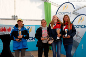 europa cup girls podium