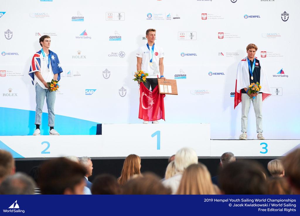 2019 Youth Sailing Boys podium