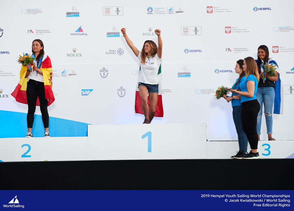 2019 Youth Sailing Girls podium