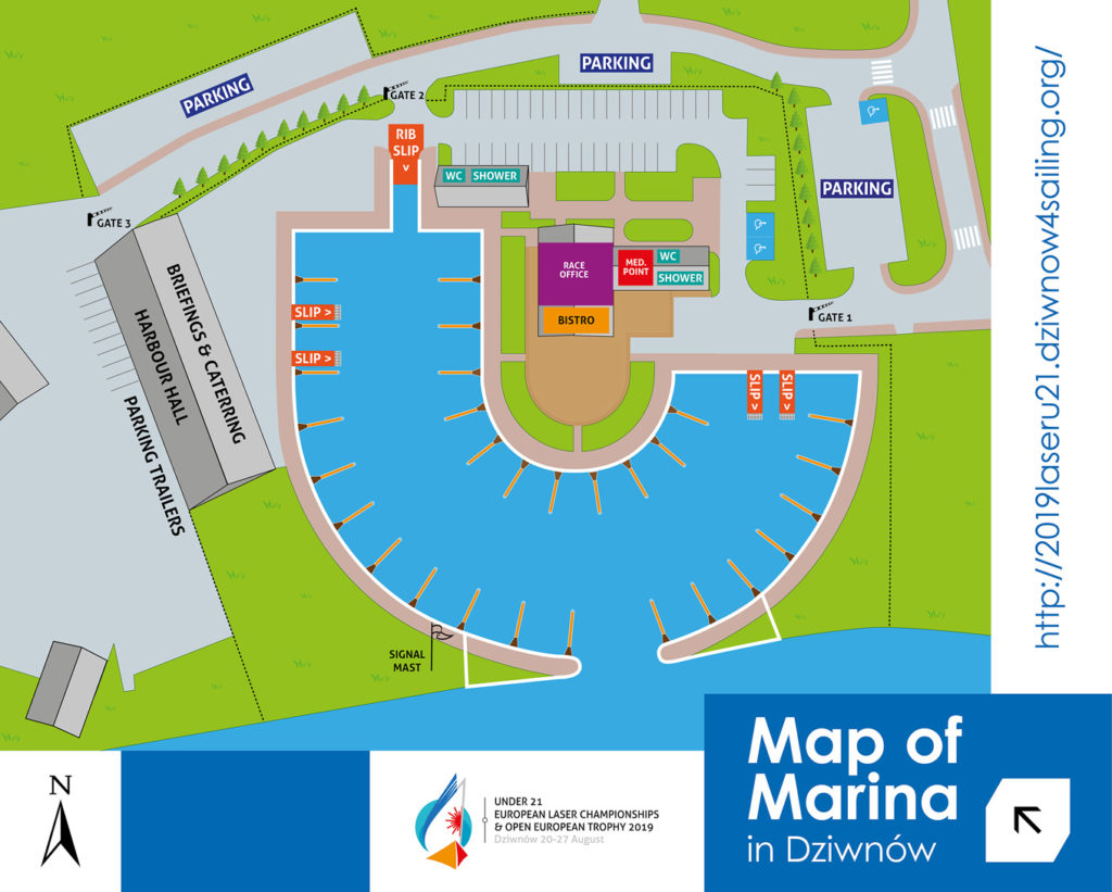 marina dziwnow map