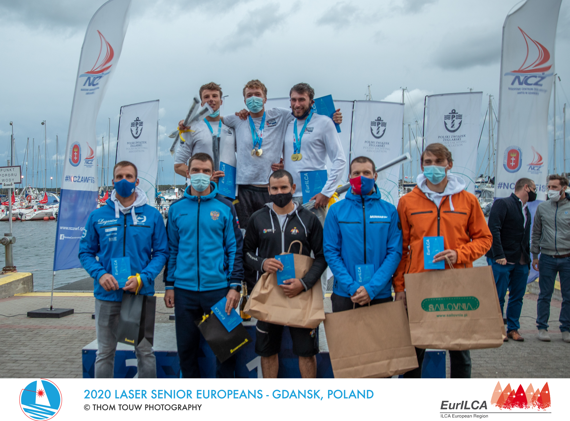 2020 laser men european winners