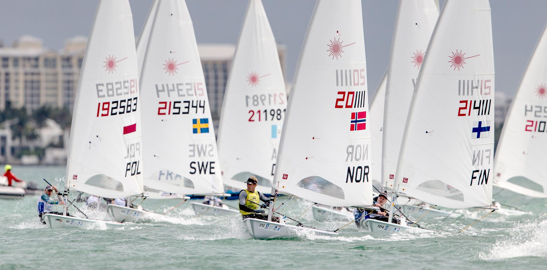 European Laser sailors