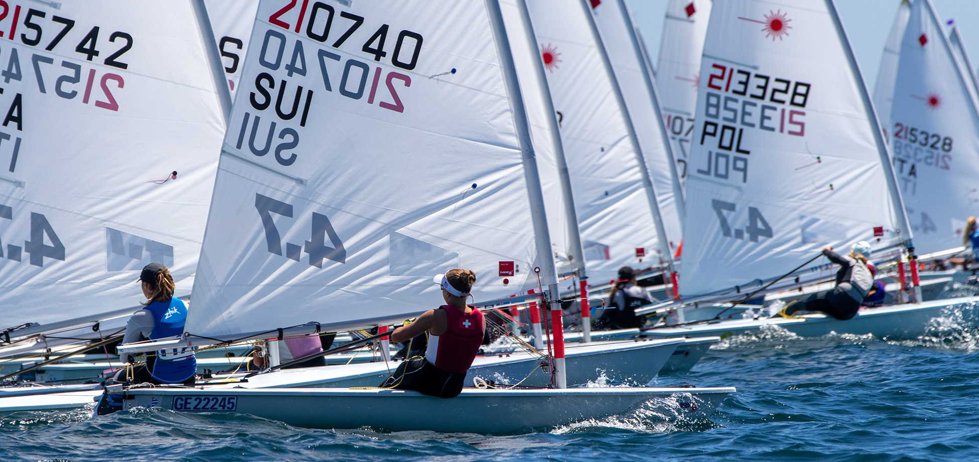 2020 Laser 4.7 Youth Europeans Race day 2