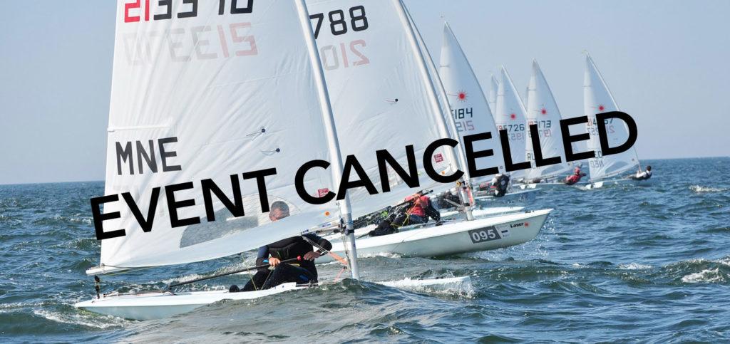 Event cancelled - 2020 Laser Under 21 Europeans