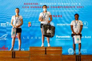ilca 6 girls podium