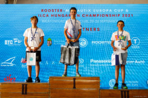 ILCA 4 Boys podium