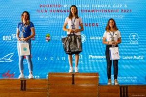 ILCA 4 Girls podium