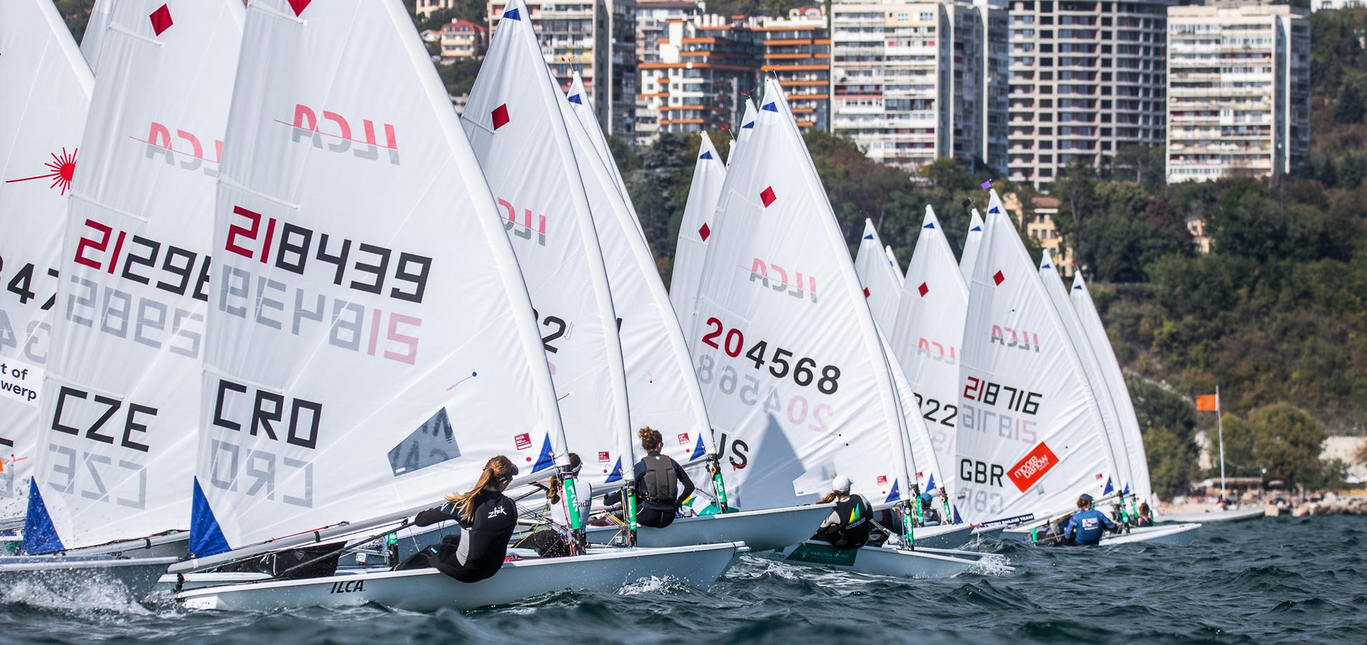 race day 1 2021 EurILCA Senior Europeans